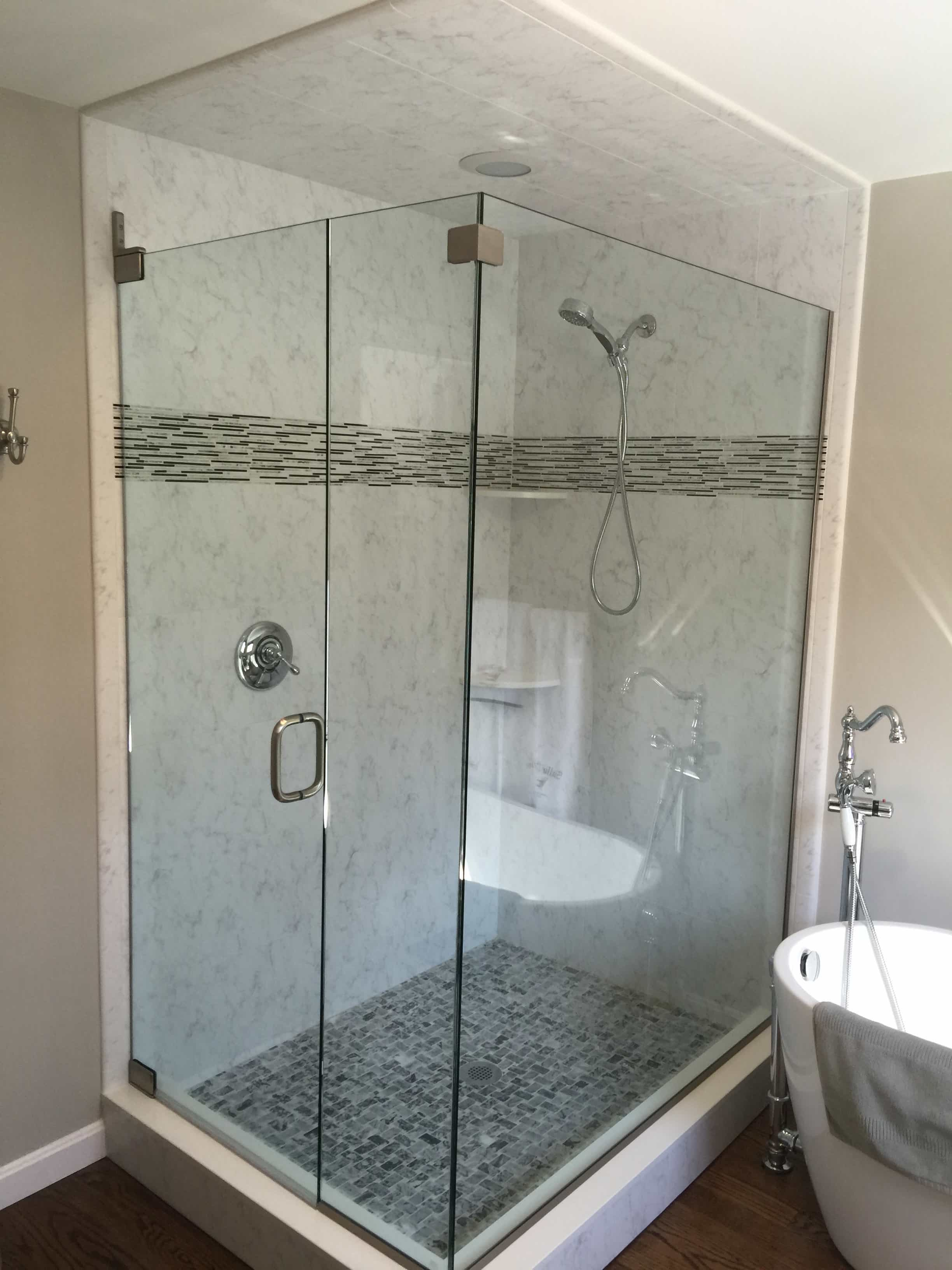 Custom Shower Enclosures Ri Ma Ct Rite Glass Inc
